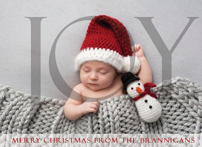 Modern joy Christmas cards