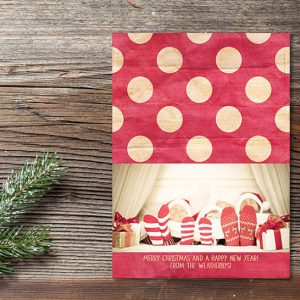 red polka dots Christmas cards