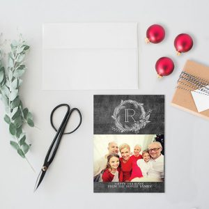 Chalkboard chic photo Christmas cards