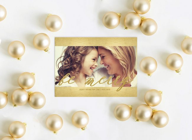 Gold calligraphy Christmas cards
