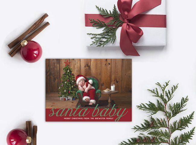 santa baby Christmas cards
