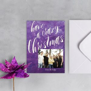 Ultra violet watercolor Christmas cards