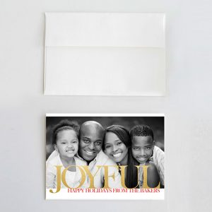 Modern gold joyful Christmas cards