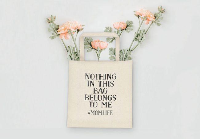 Funny Mom Life Tote Bag