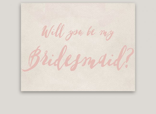 Rustic Chic Will You Be My Bridesmaid Cards