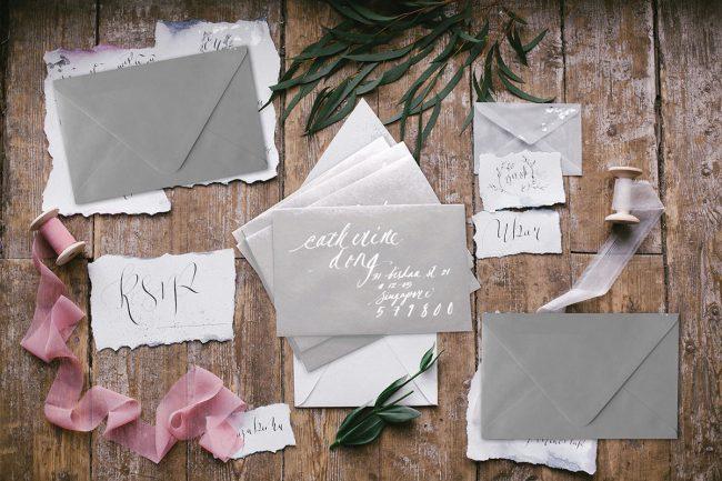 Handwritten Calligraphy Address on Envelopes