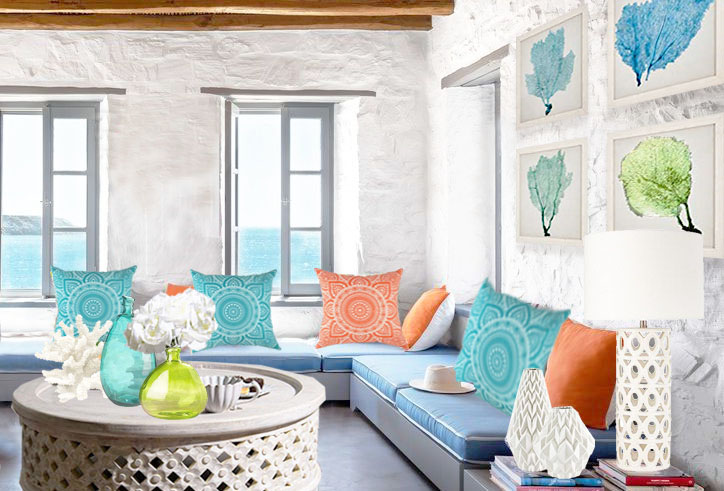 ELLE DECOR Greek island Living Room Redesign by Roche