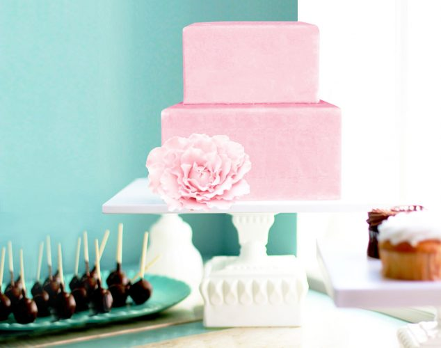 Art deco square cake stand