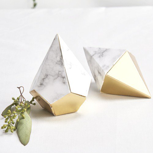 geo marble favor boxes