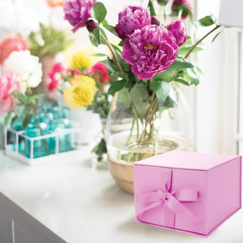 Small Pink Gift Box with Ribbon
