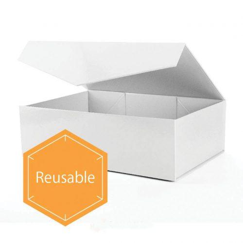 Large White Rectangle Gift Box