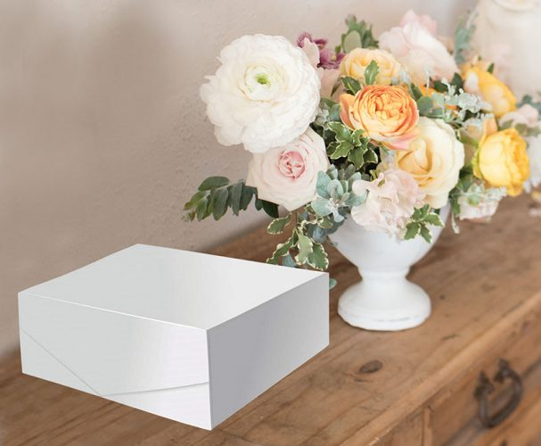 Large White Rectangle Gift Box
