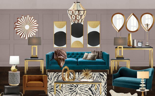 Modsy living room interior design