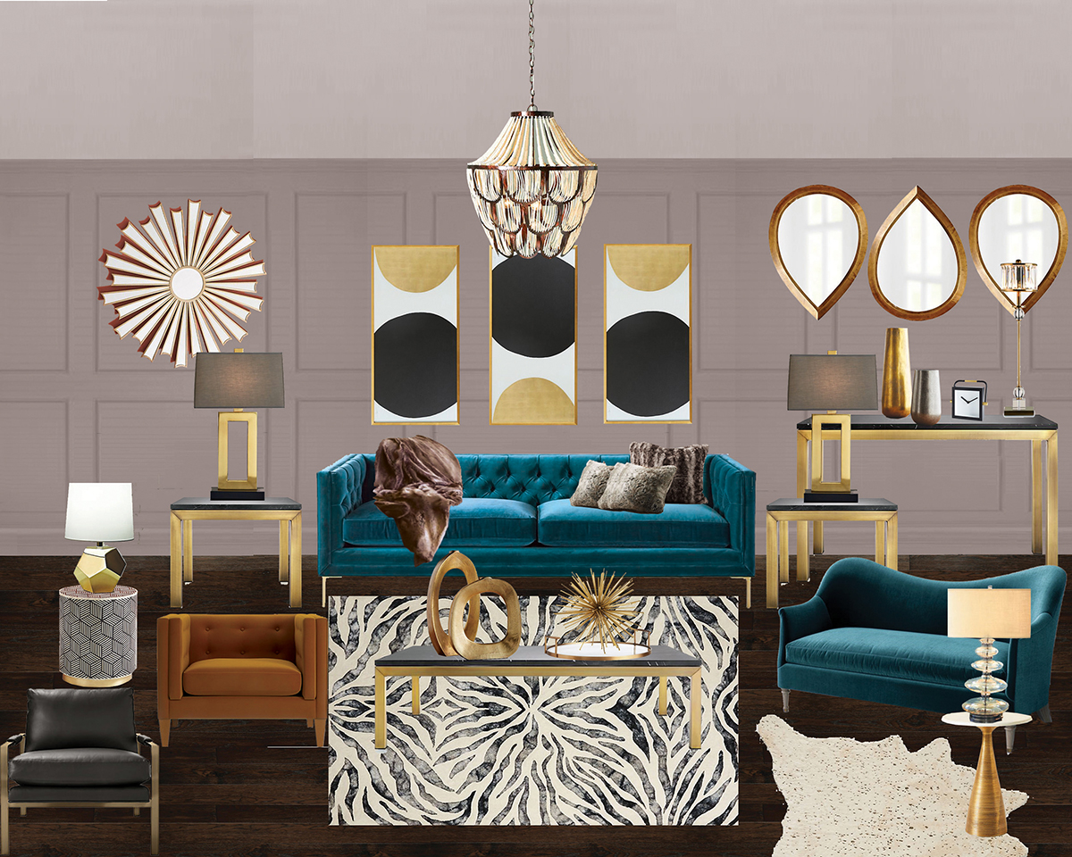 Modsy living room interior design