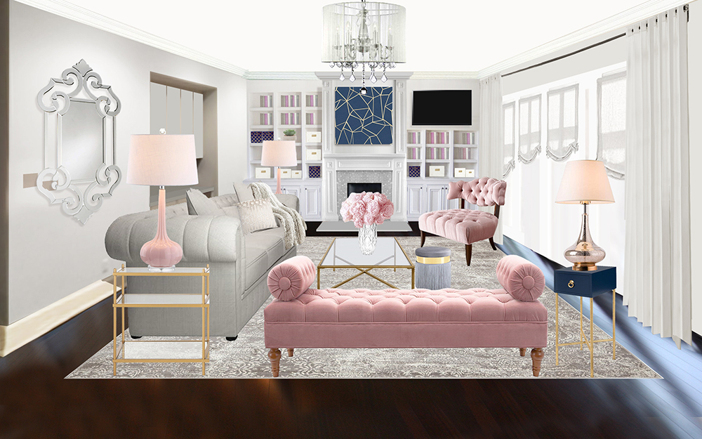 Havenly glam living room